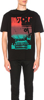 McQ by Alexander McQueen Dropped Shoulder Tee in Black