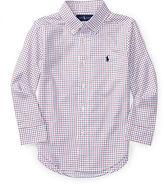 Ralph Lauren Check Poplin Dress Shirt, Size 4-7