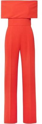 Lela Rose Off-the-shoulder Wool-blend Cady Jumpsuit