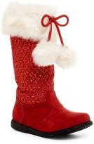 W6YZ by Naturino Jessie Faux Fur Trim Pompom Boot (Toddler & Little Kid)