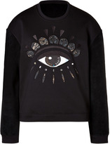 Kenzo Cotton Blend Embroidered Sweatshirt