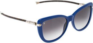 Louis Vuitton Blue & Monogram Canvas/ Grey Gradient Z0745W Charlotte Sunglasses