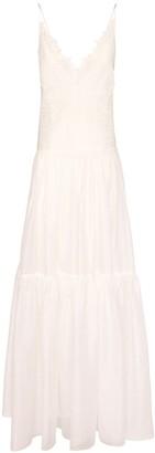 Ermanno Scervino Cotton Long Dress W/ Open Back