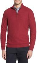David Donahue Men's Honeycomb Merino Wool Quarter Zip Pullover