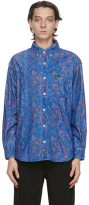 This Is Never That thisisneverthat Blue Corduroy Floral Shirt