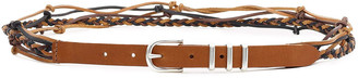 Rag & Bone Jet Knotted Braided Leather Belt