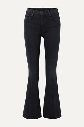 Mother The Weekender High-rise Flared Jeans - Black