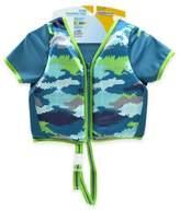 Aqua Leisure Size S/M Boys' Short Sleeve Camo Swim Vest in Blue