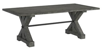 Tandy Trestle Solid Wood Dining Table Gracie Oaks