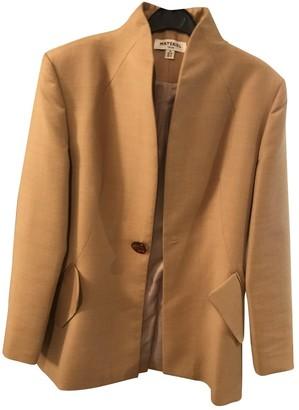 MATÉRIEL Beige Wool Jacket for Women