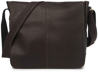 David King & Co Leather Laptop Messenger Bag