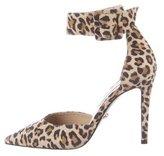 Diane von Furstenberg Leopard Print Pointed-Toe Pumps