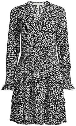 MICHAEL Michael Kors Abstract Animal-Print Dress