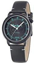 Pepe Jeans Sally Women's Quartz Watch with Black Dial Analogue Display and Black Leather Strap R2351117503