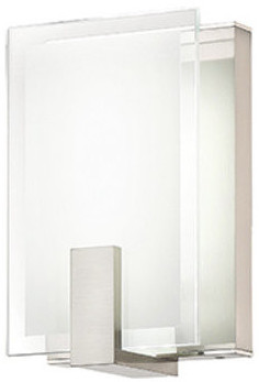 W.A.C. Lighting Dweled By  Meridien LED Wall Sconce, Brushed Nickel