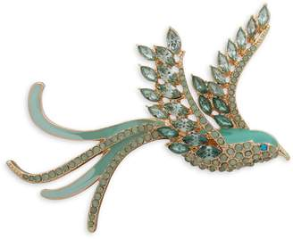 Anne Klein Boxed Goldtone Crystal Bird Pin