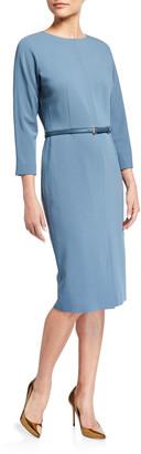 Max Mara Liriche 3/4-Sleeve Wool Dress