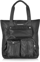 DSQUARED2 Utilitary Black Nylon Shopping Bag
