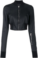 Rick Owens cropped bomber jacket - women - Cotton/Polyamide/Polyester - XS