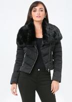 Bebe Faux Fur Puffer Jacket