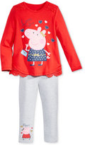 Nickelodeon Nickelodeon's Peppa Pig 2-Pc. T-Shirt & Leggings Set, Toddler & Little Girls (2T-6X)