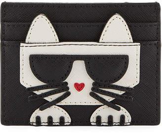 Karl Lagerfeld Paris Peekaboo Saffiano Card Case