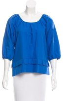 See by Chloe Linen-Blend Top