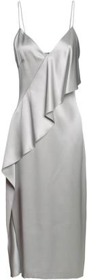 Cushnie Draped Silk-satin Midi Slip Dress