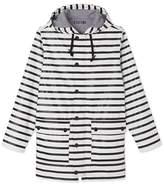 Petit Bateau Womens nautical striped raincoat