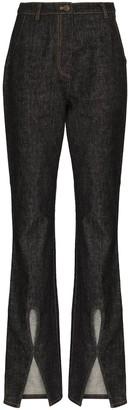 REJINA PYO Cut-Out Slit Bootcut Jeans
