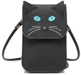 e-youth Universal Multipurpose Cute 3D Grey Mouse Design Synthetic Leather Wallet Crossbody Cell Phone Bag Mini Pouch for iPhone 6/6S/7,6Plus/7 Plus,Note 5,Galaxy S7,S7 Edge