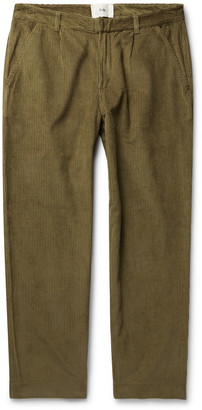 Folk Signal Tapered Pleated Cotton-Corduroy Trousers