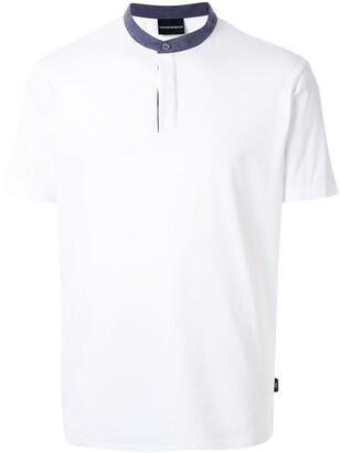 Emporio Armani Mandarin Collar Polo Shirt