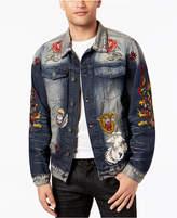 Reason Men's Patch Denim Jacket