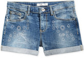 GUESS Embroidered Denim Shorts, Big Girls (7-16)