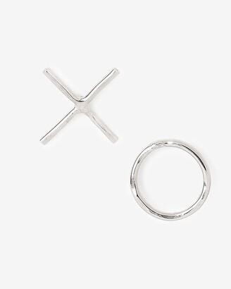 Express One Six Five Xo Silver Stud Earrings