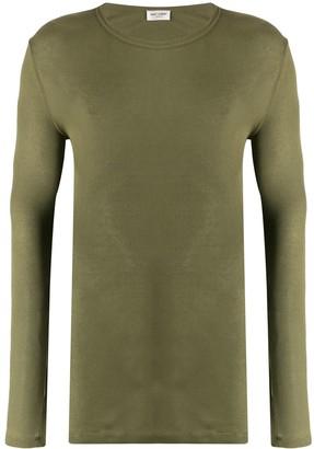 Saint Laurent long-sleeve ribbed T-shirt