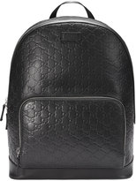 Gucci Signature backpack - women - Leather/Nylon/Microfibre - One Size
