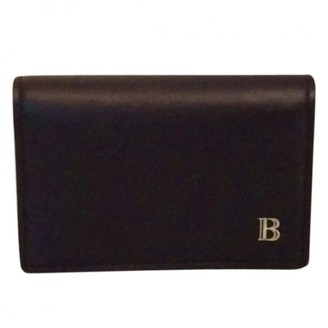 Balmain Black Leather Small bags, wallets & cases
