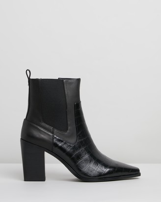 Nude Malik Leather Ankle Boots