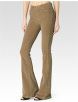 Paige High Rise Bell Canyon - Rye Corduroy
