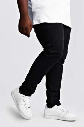 BoohoomanBoohooMAN Mens Black Big & Tall Slim Fit Rigid Jean, Black