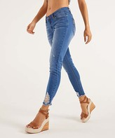 Suzanne Betro Weekend Women's Denim Pants and Jeans 102LIGHT - Light Wash Destroyed Darling Jeans - Women & Plus