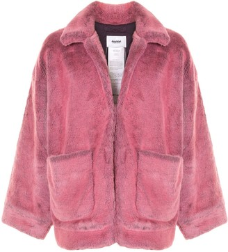 Doublet Hand Painted Faux-Fur Jacket