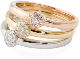 14k Gold And Diamond Stacking Ring