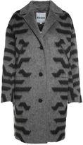 Kenzo Striped Wool And Angora-blend Coat
