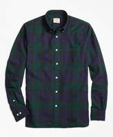 Brooks Brothers Black Watch Tartan Basketweave Sport Shirt