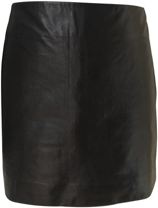 Nina Ricci Black Leather Skirt for Women