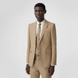 Burberry English Fit Technical Wool Canvas Tailored Jacket