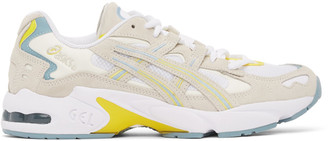 Asics White and Grey Gel-Kayano 5 OG Sneakers